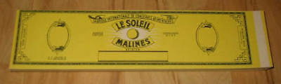 Wholesale Lot of 100 1930's Le Soleil SUN Vege Can LABELS - STOCK - Yellow