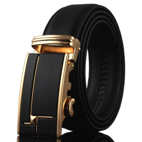 2017 Genuine Leather Automatic Ratchet Belt (No holes)