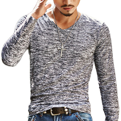 Men's Long sleeve V Neck Shirt