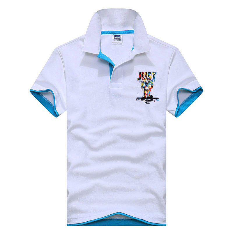 Just Do It Polo Shirt - White Lake Blue / Xs - Polo