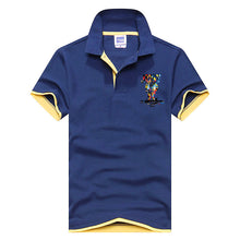 Just Do It Polo Shirt - Navy Blue And Yellow / Xs - Polo