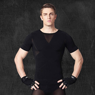Mens Shapers Body Slimming Shirt
