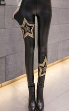 Embroidered Leather Pants - Hamarin i2