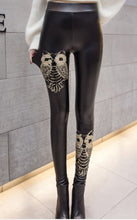 Embroidered Leather Pants