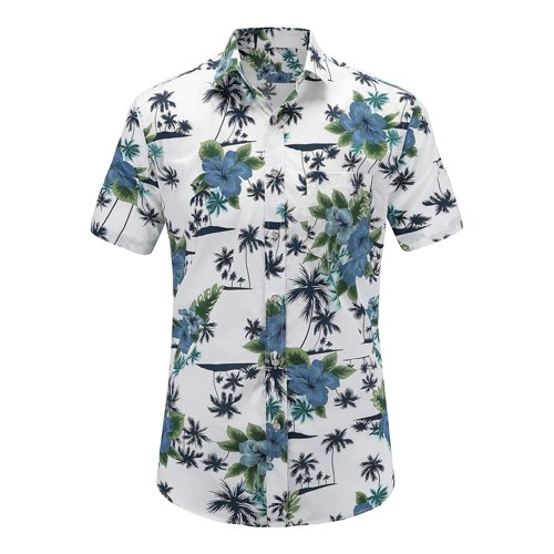 Mens Hawaiian Shirts Us Plus Sizes - Js043-Pr002 / Us S - Casual Shirts
