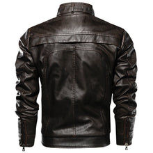 Men's Locomotive  Leather Plus Size Jacket