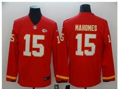 Raiders Carr Chiefs Mahomes Packers Rodgers Long Sleeves Jersey