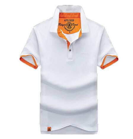 AFS JEEP 2017 Men's Polo Shirt Solid Turn Down Collar - Andre's Store