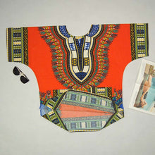 Classic Dashiki Tops - Orange / One Size - Africa Clothing