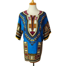 Classic Dashiki Tops - Blue Purple / One Size - Africa Clothing