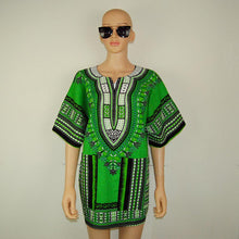 Classic Dashiki Tops - Green / One Size - Africa Clothing