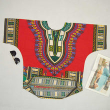 Classic Dashiki Tops - Red Blue / One Size - Africa Clothing