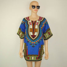 Classic Dashiki Tops - Blue Green / One Size - Africa Clothing
