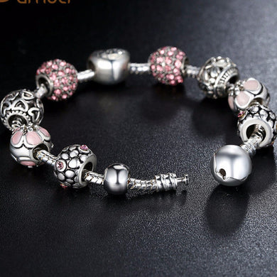 Antique Silver Charm Bracelet (Free With Purchase Of Any Item) - Pinkb20 / 20Cm - Bracelet