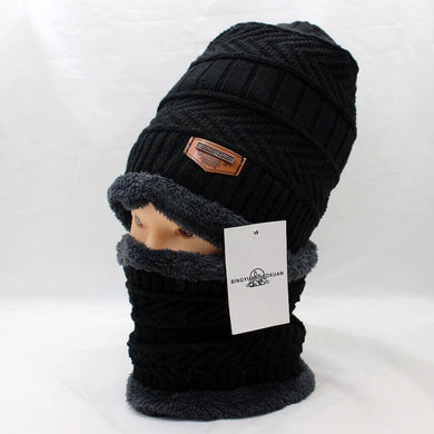 Reversible Beanie with Neck Face Cover Set - Hamarin i2