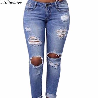 Ripped Hollow Out Jeans for Women. Free faster US domestic shipping available - hamarini2.com