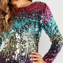 Andy's Long Sleeves Sequin Party Dress
