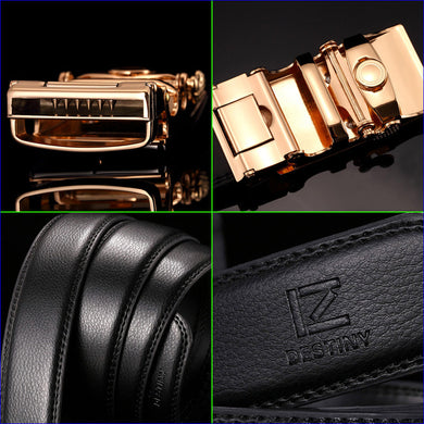 Mens Luxury Genuine Leather Strap High Quality Belt - Belt