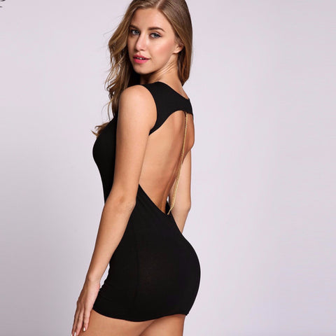 Bodycon Backless Mini Sequined Going Out/Party Dress