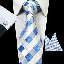 100% Silk Tie Cufflinks Pocket Square Set (Buy 1 Take 1) - Hamarin i2