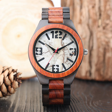 Full Nature Bamboo Quartz Wrist Wooden Watch - Watch