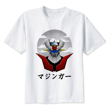 Voltes V Mazinger Z Classic 70S Cartoon Cotton T-Shirts - Mazinger Z White / S - T-Shirts