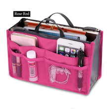 Womens Cosmetic Organizer Bag (Free With Purchase Of Any Item) - Rose Red - Cosmetic Bags & Cases