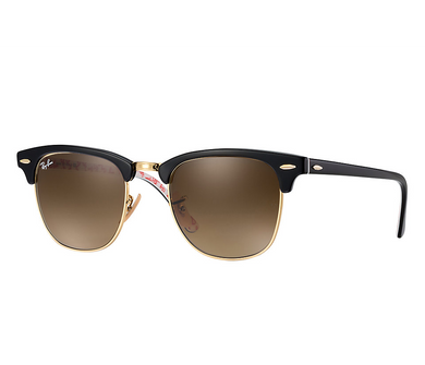 Ray-Ban Clubmaster Grey Gradient Sunglasses - Sunglasses