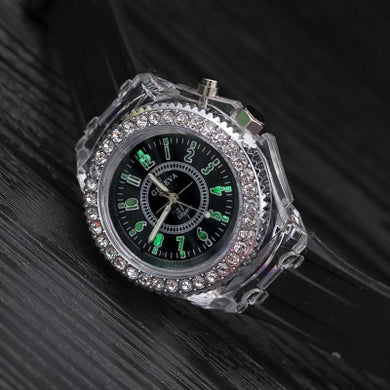 Men And Womens Silicone Led Luminous Watch $28 - Black - Womens Watches