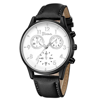 Sports Leather Band Quartz Watch (Free With Purchase Of Any Item) - A / China - Quartz Watches