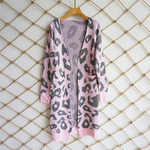 Printed Knitted Long Cardigan - Pink / S - Cardigans
