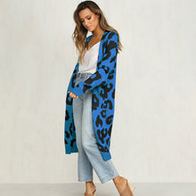 Printed Knitted Long Cardigan - Blue / S - Cardigans
