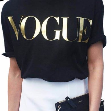 Vogue Print T-Shirt For Women - T-Shirt