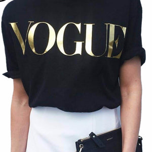 VOGUE Print T-shirt for Women ($12.75 only!!) - Andre's Store