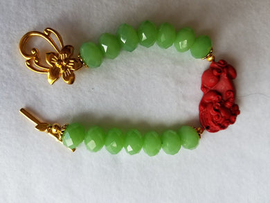 Dragon Lucky Charm Bracelet 3 Colors - Green Beads - Bracelet