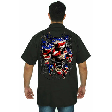 Mens Skull Flag Shirt Made In The United States - Men - Apparel - Shirts - Blouses