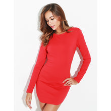 Open Back Chain Red Bodycon Dress - Party Dress