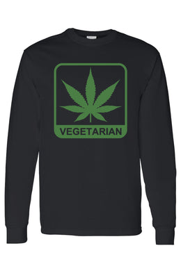Men/womens Vegetarian Long Sleeve Shirt Shipped From Usa - Black / 3Xl - Shirt