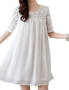 Women's Casual/Daily Cute Plus Size Dress