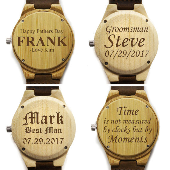 Personalized Wood Watch FREE Engraving