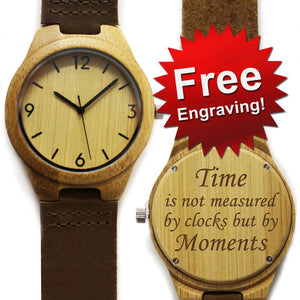 Personalized Wood Watch FREE Engraving - Andre's Store