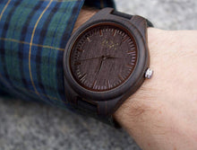 Mens Dark Ebony Real Wood Handmade Watch. Gift For Him. - Watch