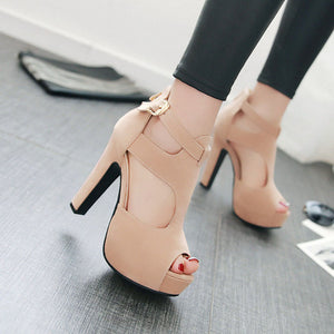 Women's High Platform Shoes - 4 Colors