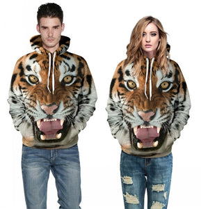 Hoodies Tiger/Lion 3D Print Unisex Pullovers Only 12 left!!! - Andre's Store