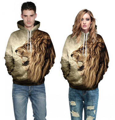 Hoodies Tiger/Lion 3D Print Unisex Pullovers Only 12 left!!! - hamarini2.com