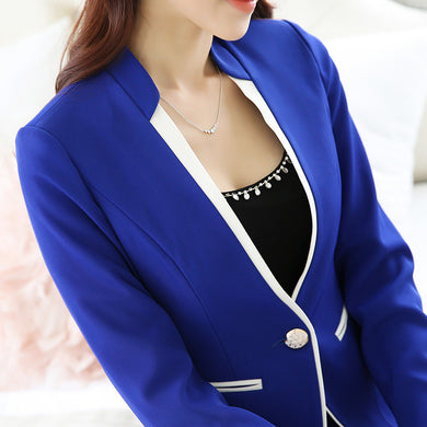 Womens Skirt/pant Suits (Blue And Black) - Business Suit