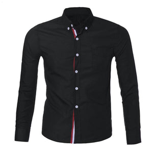 Men's Button Slim Fit Long Sleeve Shirt