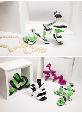 Womens Shoes Snake Pumps - Shoes