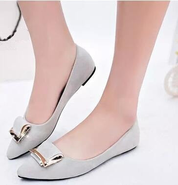 Women's Candy Color Pointed Flats - hamarini2.com