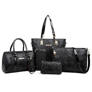 6 Piece Set Ladies Designer Wholesale Handbags